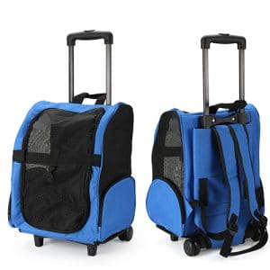 pet carrier bag with trolley